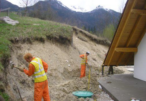 Bohinjska bistrica – sanacija izkopa podvrženega eroziji